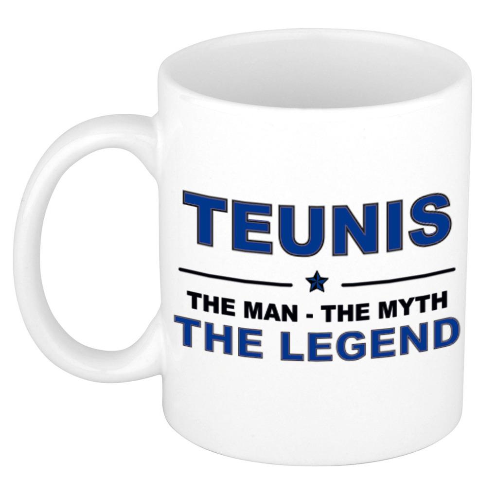 Teunis The man, The myth the legend pensioen cadeau mok/beker 300 ml