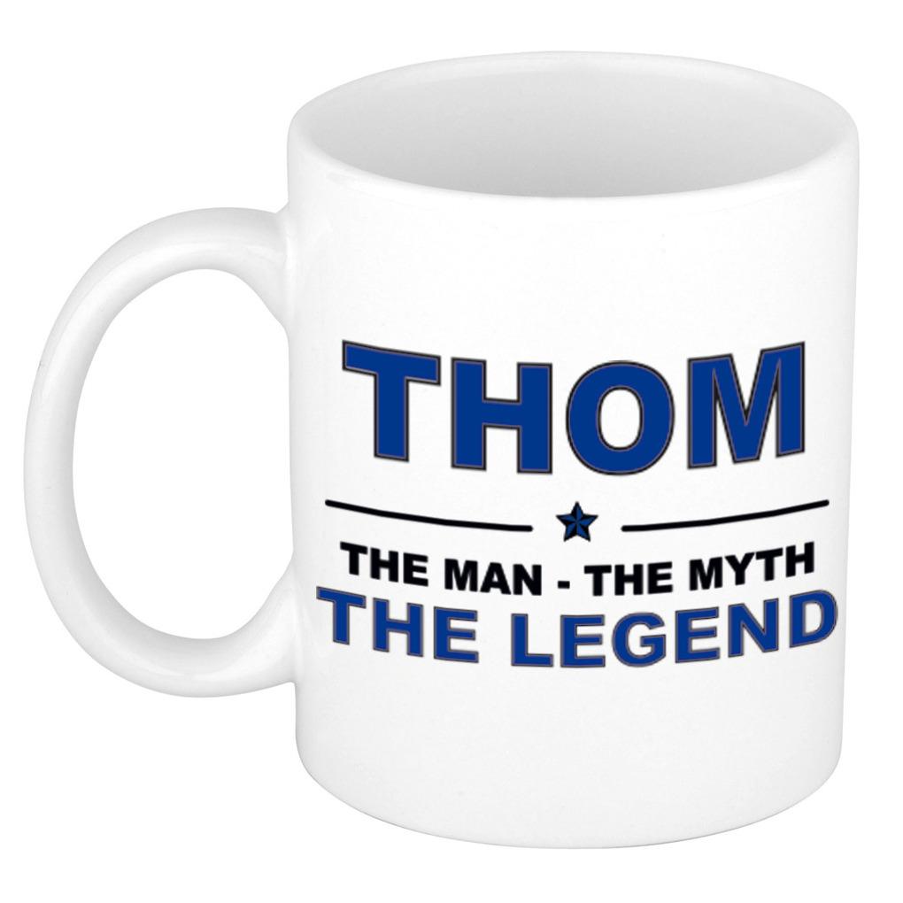 Thom The man, The myth the legend pensioen cadeau mok/beker 300 ml