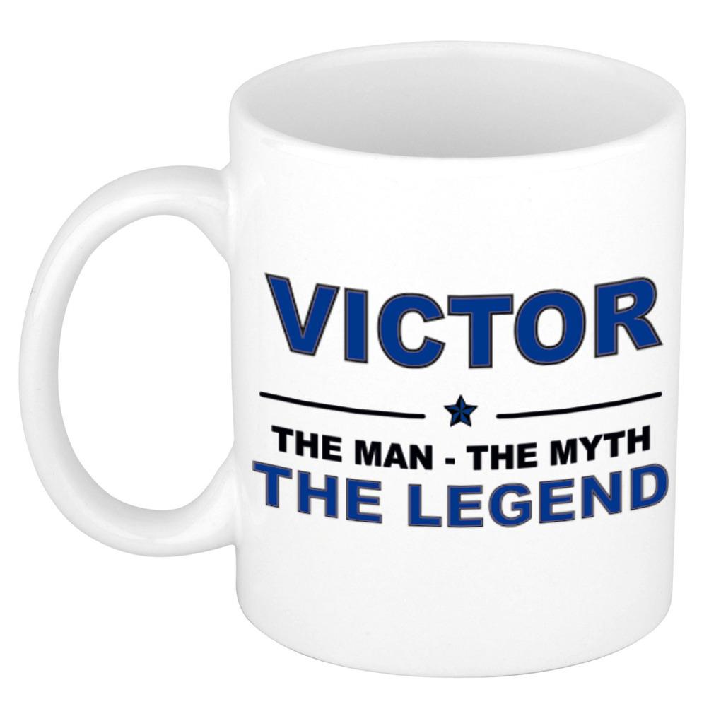 Victor The man, The myth the legend pensioen cadeau mok/beker 300 ml