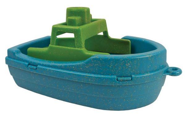Anbac Toys motorboot Anbac junior 16 x 9,5 x 9,5 cm blauw/groen