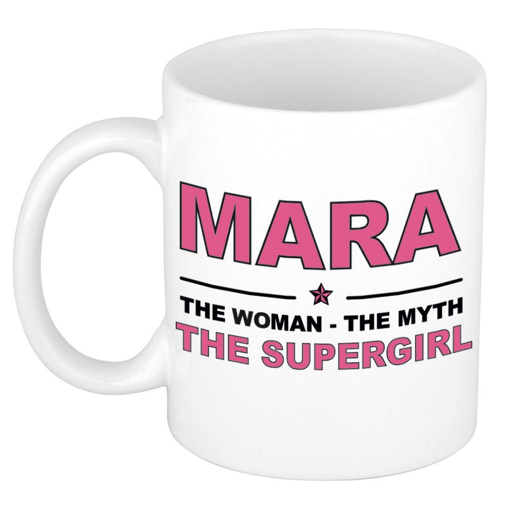 Mara The woman, The myth the supergirl pensioen cadeau mok/beker 300 ml