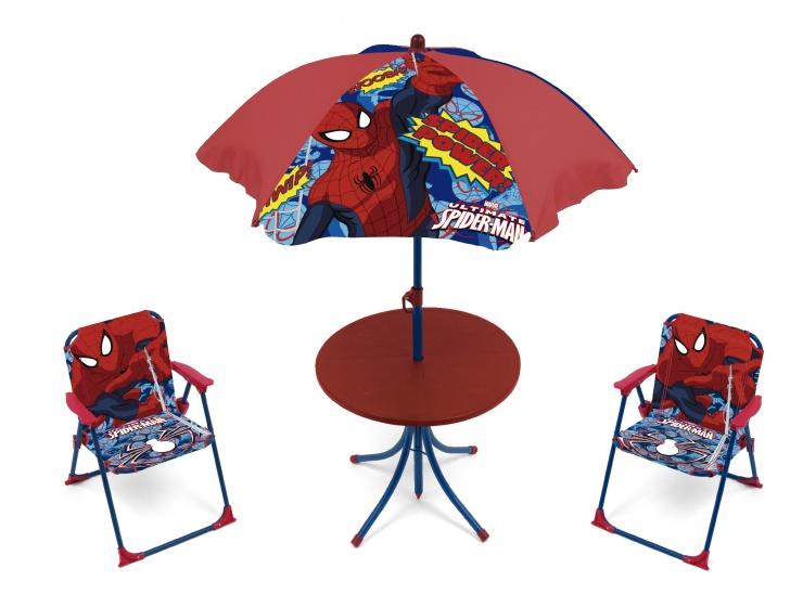 Marvel campingset Spider Man jongens rood 4 delig