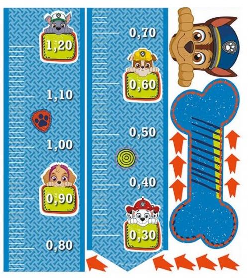 Nickelodeon groeimeter muursticker Paw Patrol 120 cm