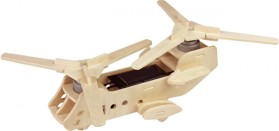 Robotime 3D modelbouw Boeing CH 47 hout 25 cm naturel 31 delig