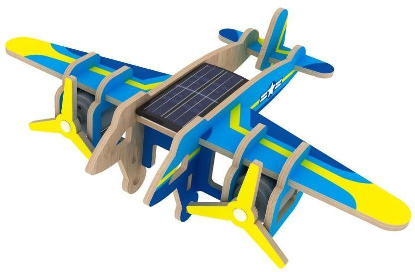 Robotime 3D modelbouw Bomber P330S 14 x 20 cm blauw 13 delig