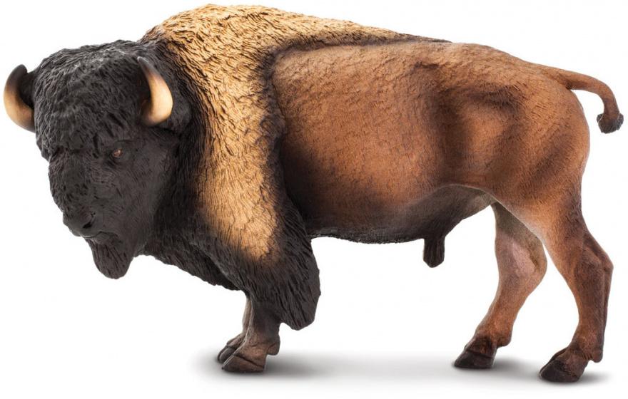 Safari speelgoed bizon junior 21,7 cm bruin
