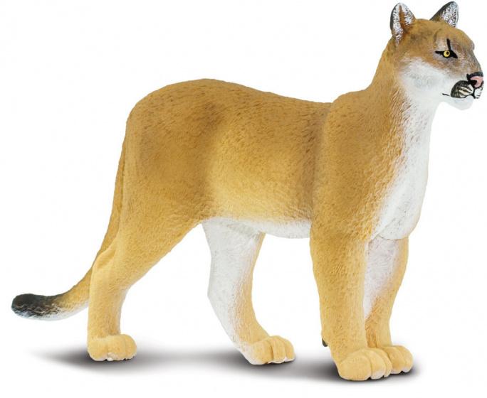 Safari speelgoed floridapanter junior 22,4 cm geel/wit