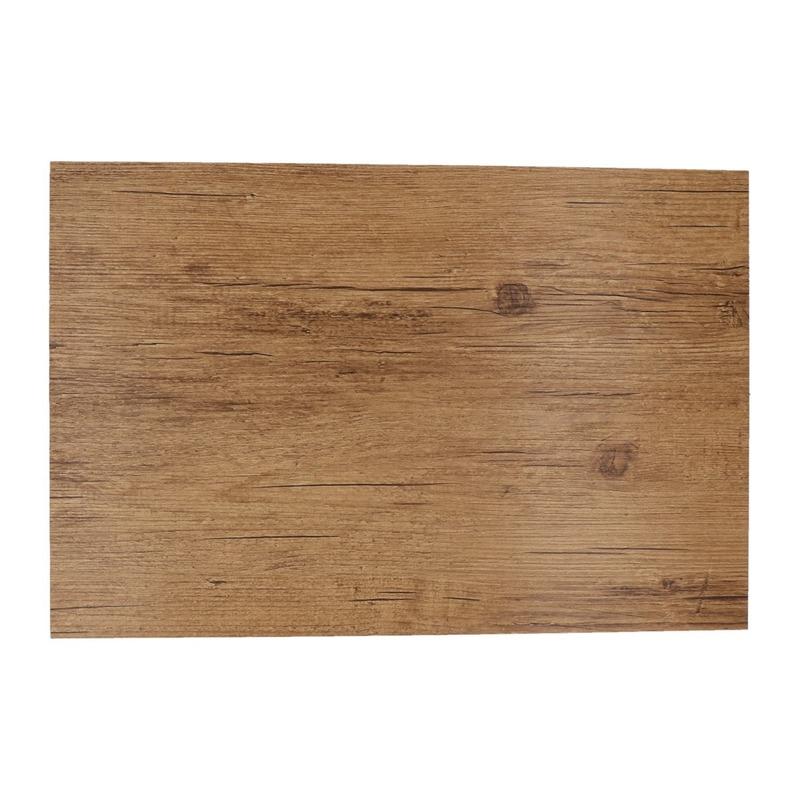 1x Placemats lichtbruine hout print 45 cm