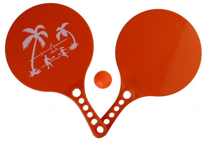 LG Imports beachball set Beach Fun 3 delig oranje