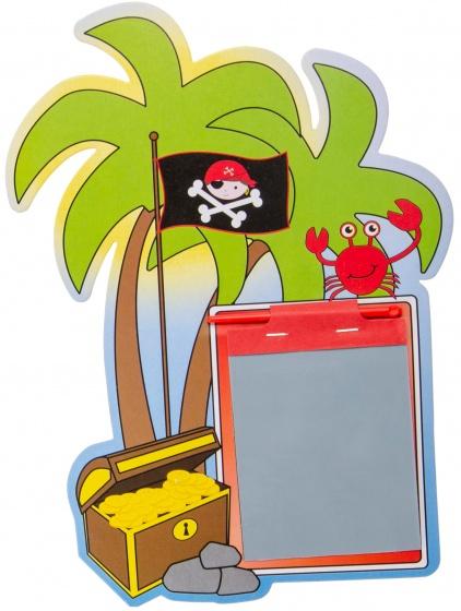 LG Imports tekenbord met pen piratenschatkist 24 cm