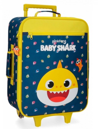 Baby Shark kinderkoffer My Good Friend 50 cm ABS 25 liter blauw