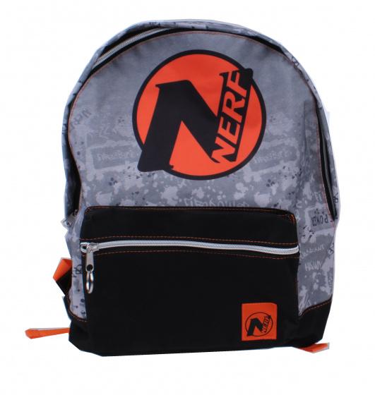 NERF rugzak NERF junior 12 liter polyester grijs/zwart/oranje