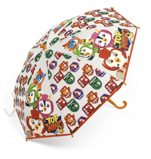 Nickelodeon paraplu Top Wing junior 60 x 70 cm oranje
