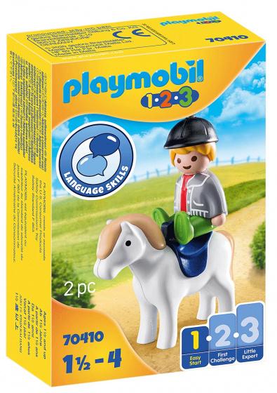 PLAYMOBIL 1,2,3 Jongen met pony (70410)