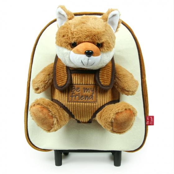 Perletti trolley rugzak Vos 10 liter 32 cm polyester bruin