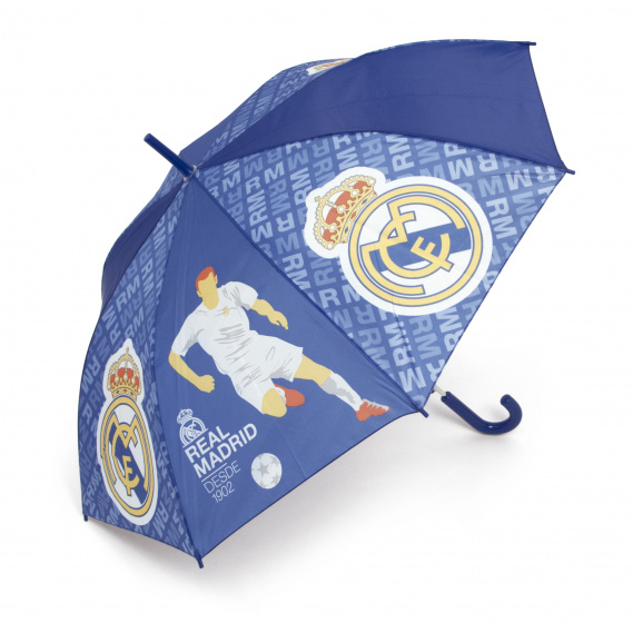 Real Madrid paraplu junior 58 cm blauw/geel