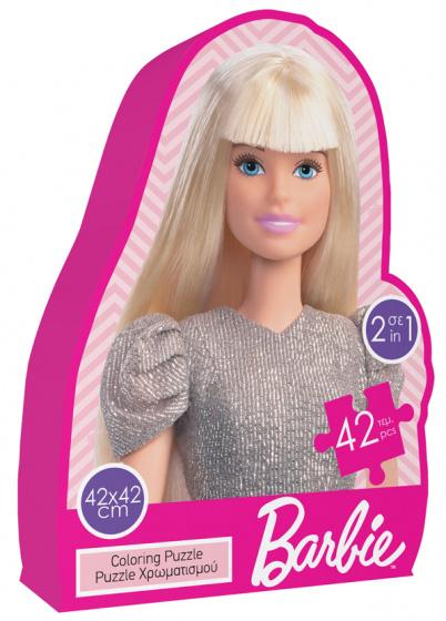 Luna kleurpuzzel 2 in 1 Barbie meisjes 42 cm 2 delig