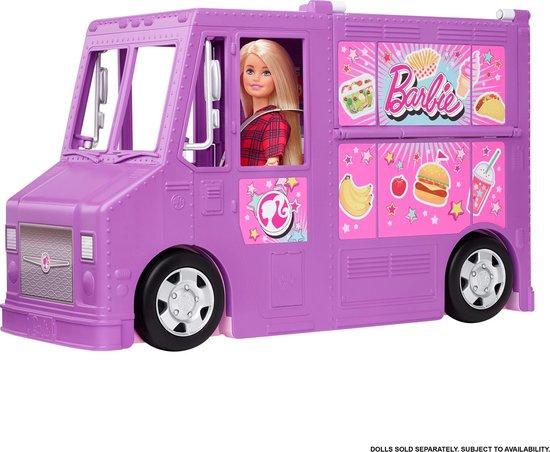 Barbie speelset Fresh 'n Fun Foodtruck 38,1 cm paars/roze