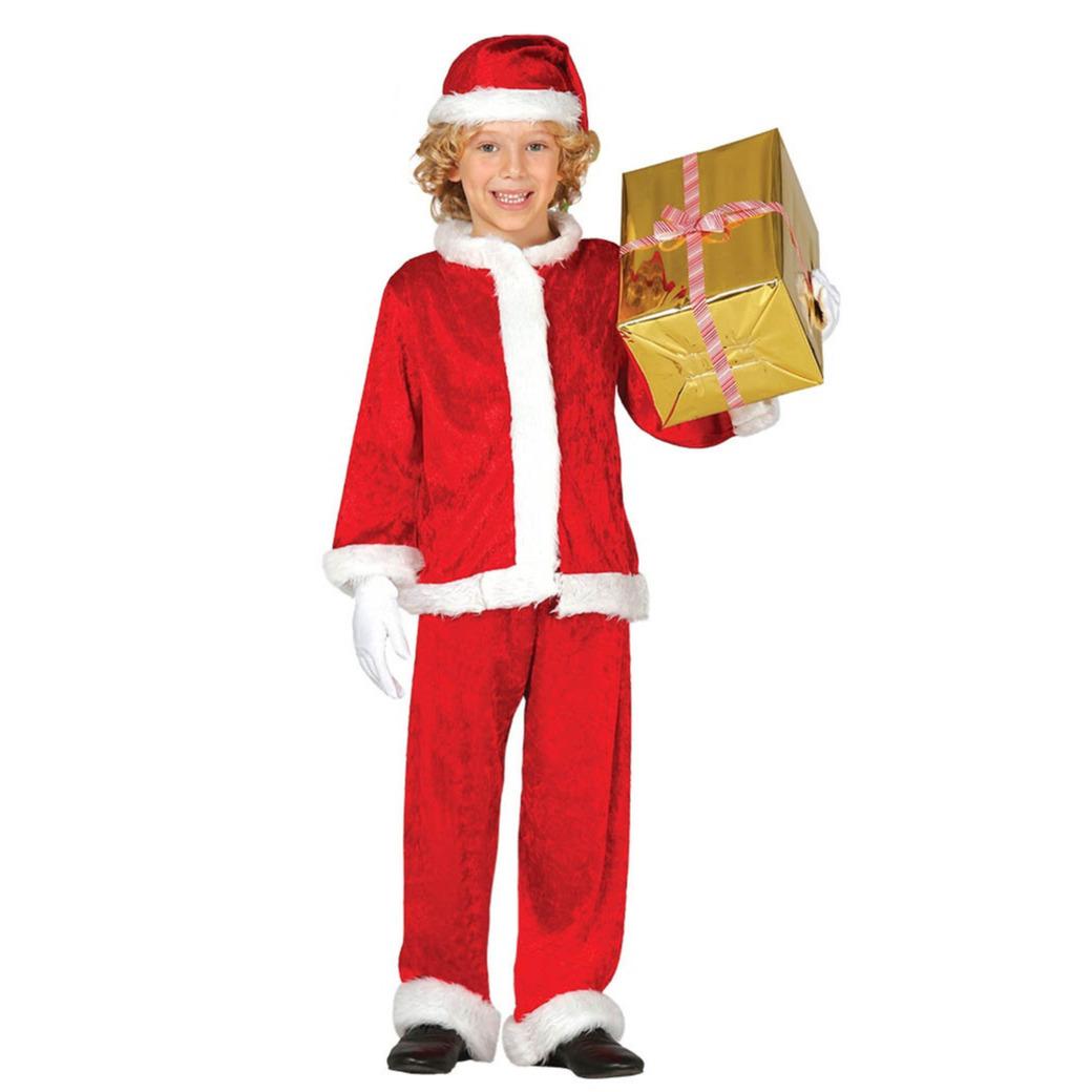 Budget pluche Kerstman verkleed kostuum voor kinderen 3-delig