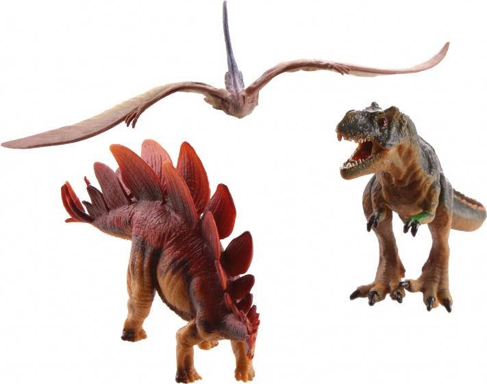 LG Imports dinosaurussen 3 delig groen/bruin