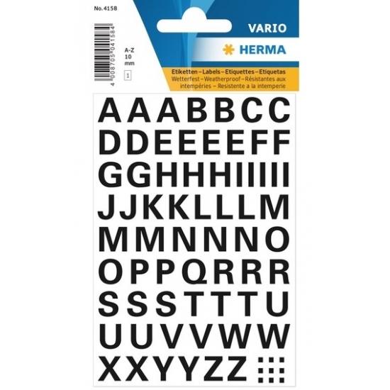 A t/m Z stickervel met letter stickers 10 mm
