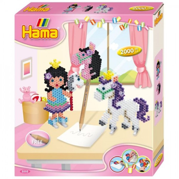Hama Strijkkralen Pony Play 2000 Delig
