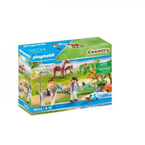 70512 Playmobil Country Gelukkige Ponyreis