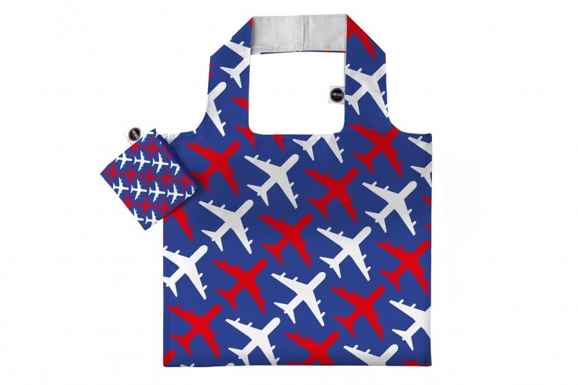 Any Bags opvouwbare shopper vliegtuigen 48 cm blauw