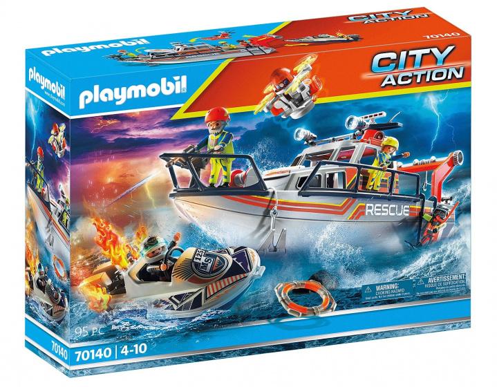 PLAYMOBIL City Action Redding op zee: brandbestrijdingsmissie