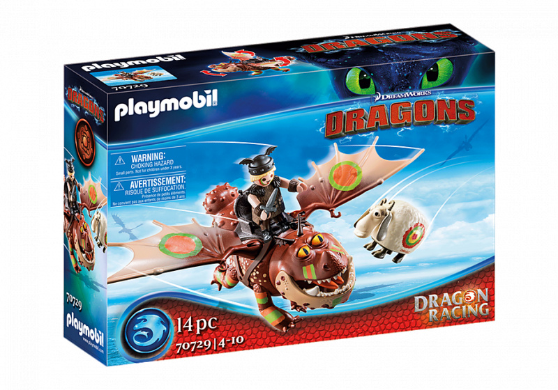 PLAYMOBIL Dragon Racing: Vissenpoot en Speknekje (70729)