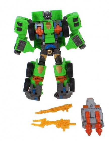 Jonotoys transformer groen 4 delig 23 cm