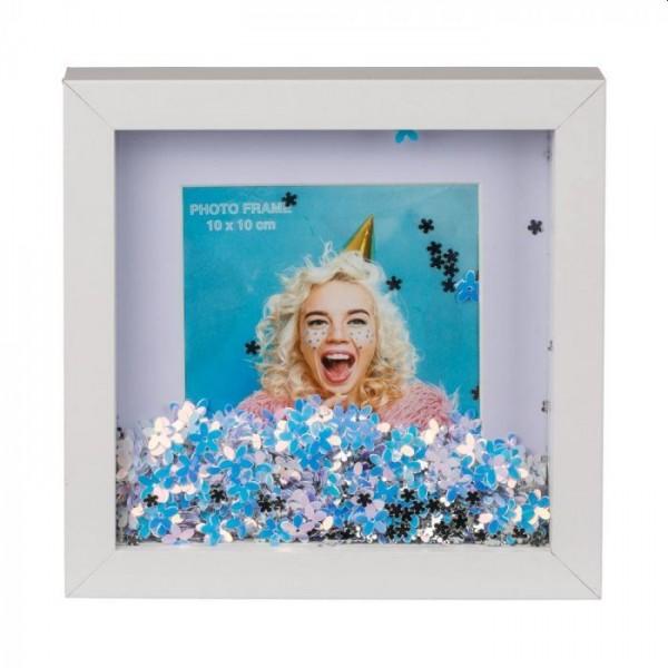 Fotolijst Bloem Glitters 10x10cm