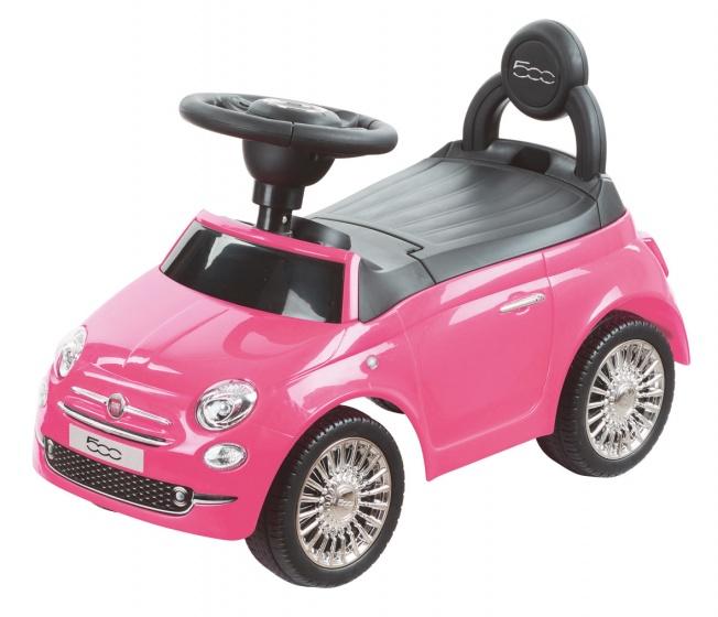 Happy Baby loopauto Fiat 500 roze
