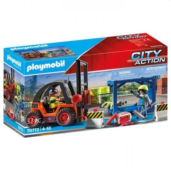 70772 Playmobil Vorkheftruck Met Lading