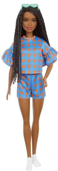 Barbie tienerpop #172 hartjes meisjes 32,5 cm blauw 4 delig