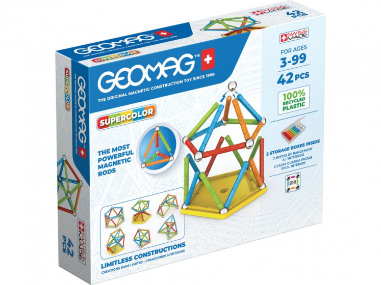 Geomag Super Color Recycled 42 delig multicolor