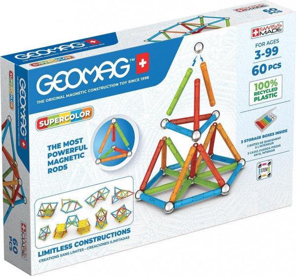 Geomag Super Color Recycled 60 delig multicolor