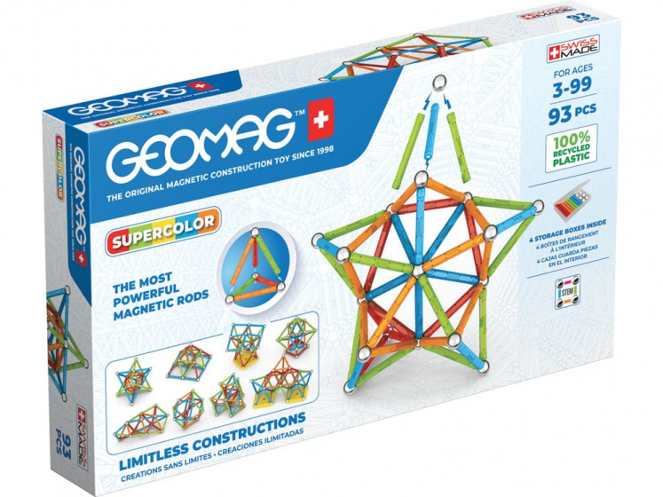 Geomag Super Color Recycled 93 delig multicolor