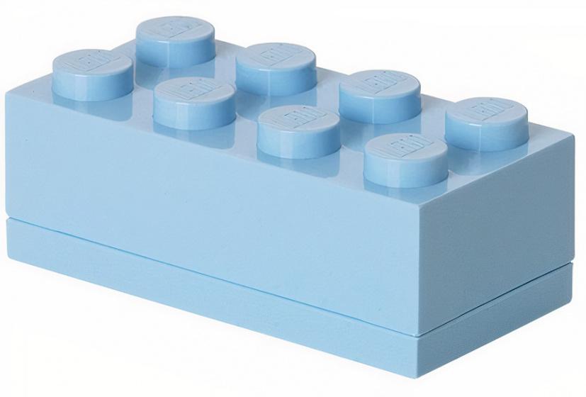 LEGO mini opbergsteen 8 noppen 4,6 x 9,2 cm PP lichtblauw