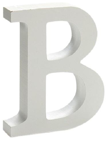 Pincello hobbyletter B junior 2 x 11 cm hout wit
