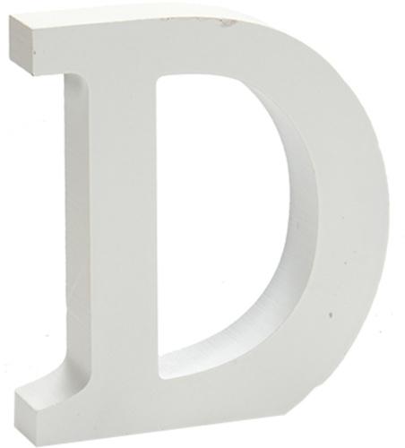 Pincello hobbyletter D junior 2 x 11 cm hout wit