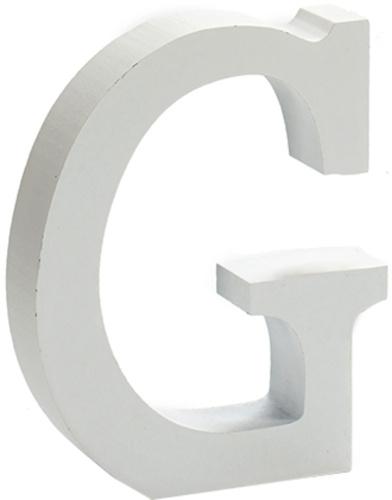 Pincello hobbyletter G junior 2 x 11 cm hout wit