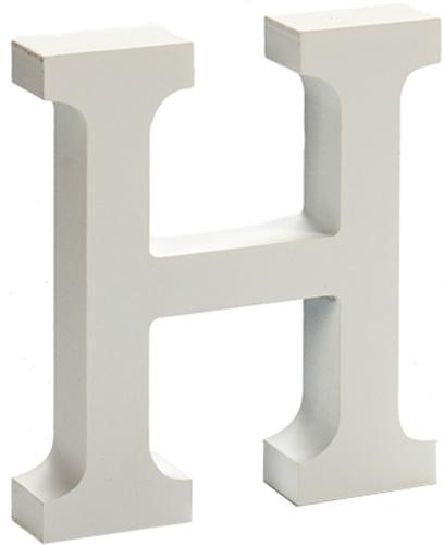 Pincello hobbyletter H junior 2 x 11 cm hout wit