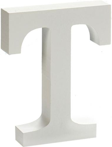 Pincello hobbyletter T junior 2 x 11 cm hout wit
